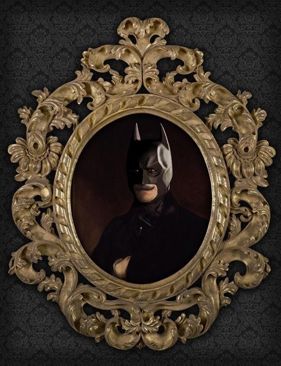 Superhero-Oil-Paintings-Batman