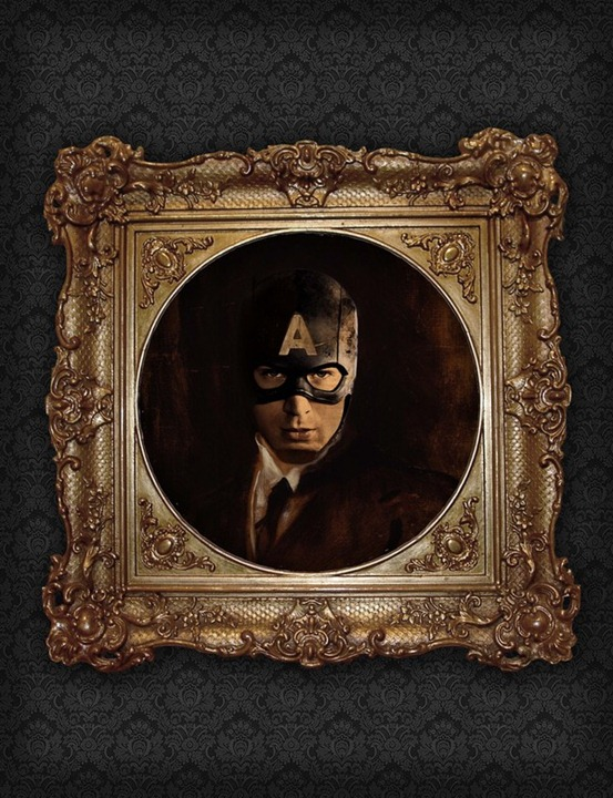 Superhero-Oil-Paintings-Captain-America