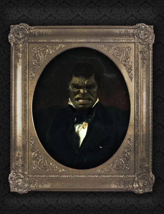 Superhero-Oil-Paintings-Hulk