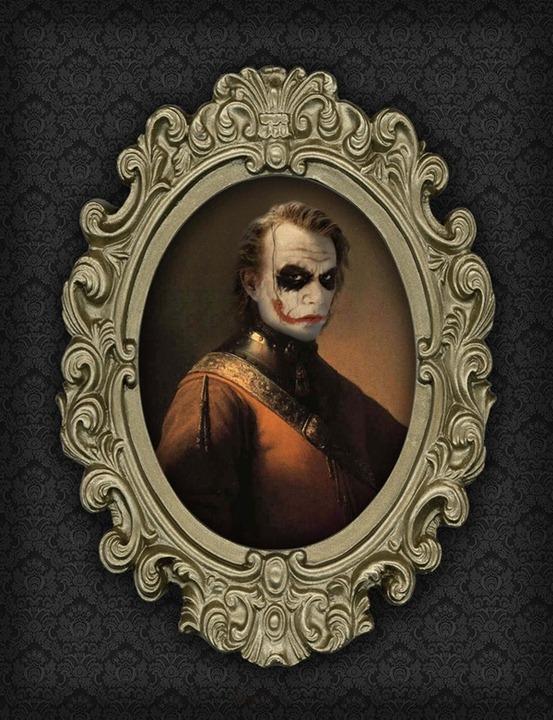 Superhero-Oil-Paintings-Joker
