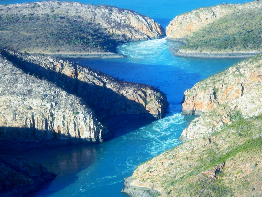 Самые низкие в мире — горизонтальные водопады Австралии