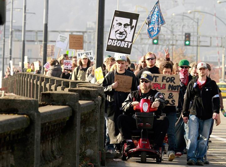 Wall Street Protest Oregon