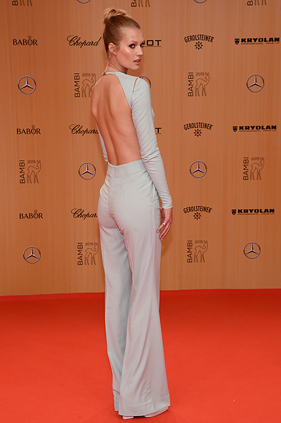 BERLIN, GERMANY - NOVEMBER 12: Toni Garrn attends the Bambi Awards 2015 at Stage Theater on November 12, 2015 in Berlin, Germany. (Photo by Clemens Bilan/Getty Images for BABOR)