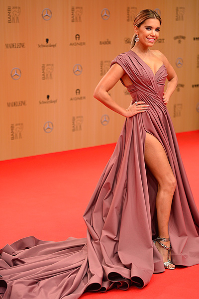 BERLIN, GERMANY - NOVEMBER 12: Sylvie Meis attends the Bambi Awards 2015 at Stage Theater on November 12, 2015 in Berlin, Germany. (Photo by Thomas Lohnes/Getty Images for MADELEINE)