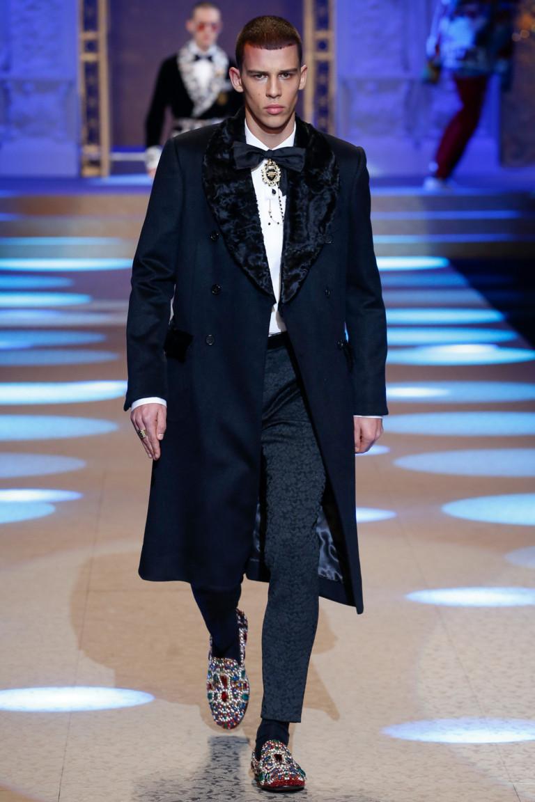 Мужской показ: Dolce & Gabbana осень-зима 2018/2019