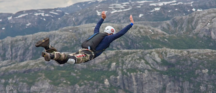 Falling-at-Kjerag-Norway-BASE-jumper