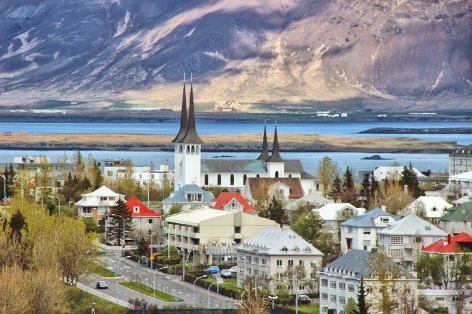 View of Reykjavik with Hateigskirkja