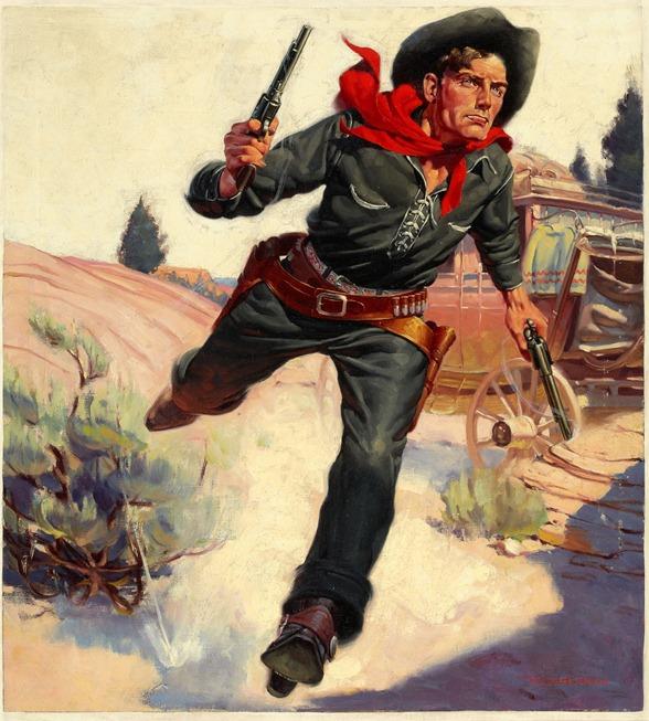 ROBERT G. HARRIS (American, 1911-2007). Wild West Weekly, pulp cover, December 14, 1935