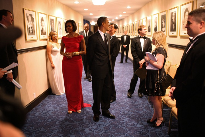President Barack Obama and First Lady Michelle Obama before the White House Correspondents Association Dinner