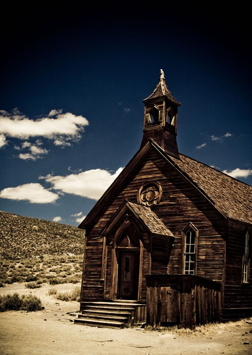 Ghost-Town-Church-in-Bodie