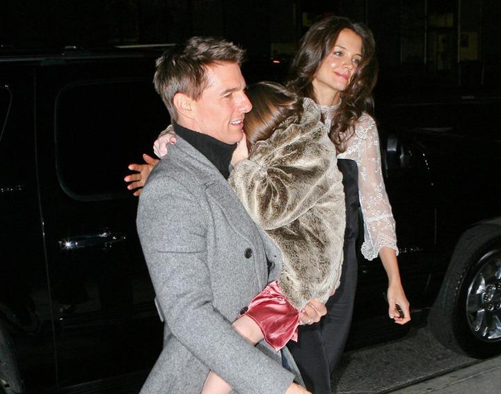 Tom Cruise, Katie Holmes and Suri Cruise