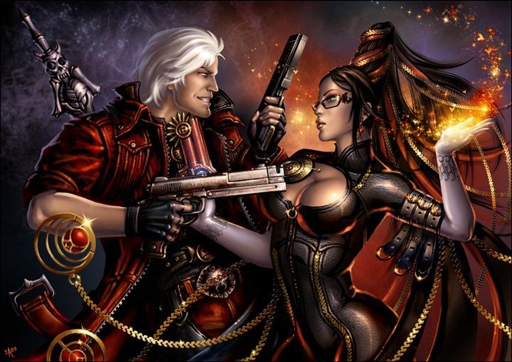 Dante_versus_Bayonetta_by_Candra