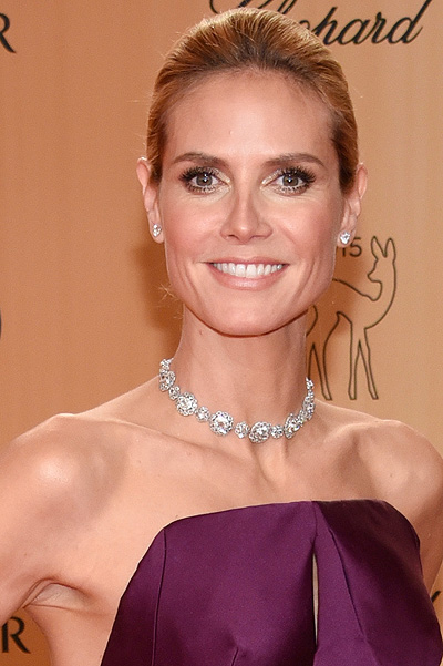 BERLIN, GERMANY - NOVEMBER 12: Heidi Klum attends the Bambi Awards 2015 at Stage Theater on November 12, 2015 in Berlin, Germany. (Photo by Clemens Bilan/Getty Images for BABOR)