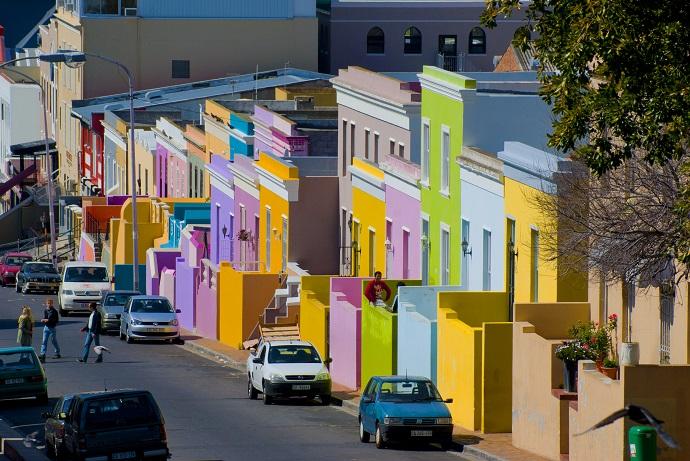 Houses in Bo Kaap, Cape Town.