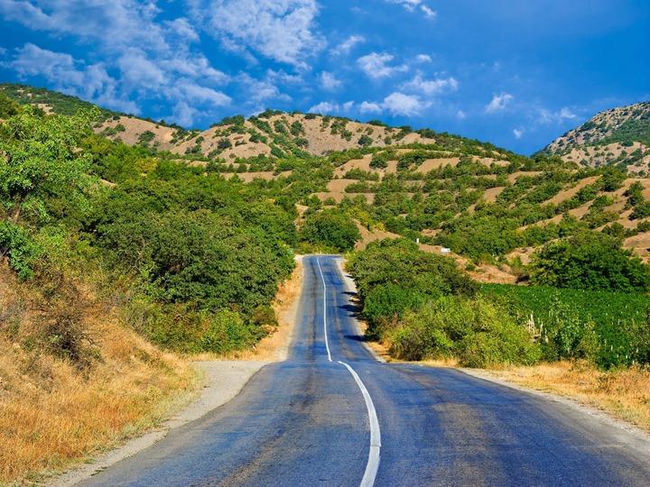 Blue-road