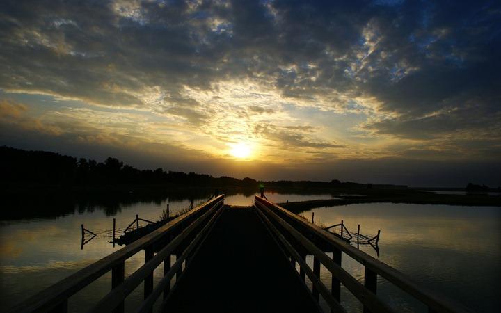 Wood-bridge