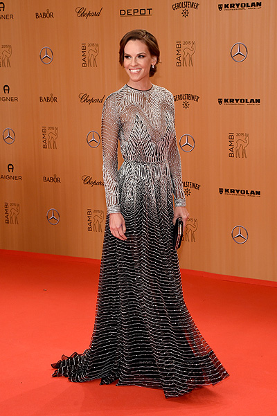 BERLIN, GERMANY - NOVEMBER 12: Hilary Swank attends the Bambi Awards 2015 at Stage Theater on November 12, 2015 in Berlin, Germany. (Photo by Clemens Bilan/Getty Images for BABOR)