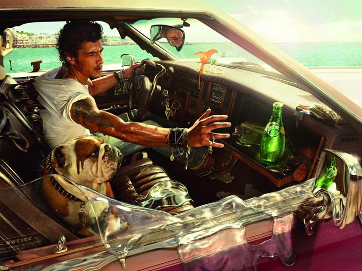 perrier_-_melting_car_poster