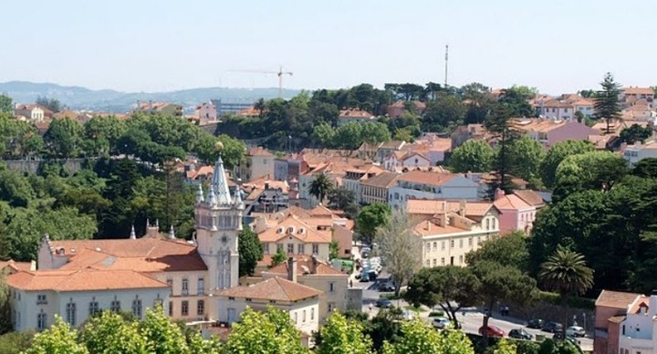 Вид на город от дворца.
