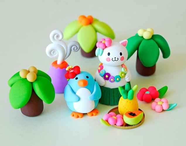 clay-animals-and-plants