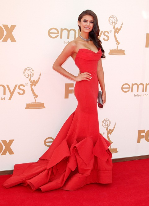 #7899087 The 63rd Primetime Emmy Awards - Arrivals held at The Nokia Theatre L.A. Live in Los Angeles, California on September 18th, 2011. Nina Dobrev  Fame Pictures, Inc - Santa Monica, CA, USA - +1 (310) 395-0500