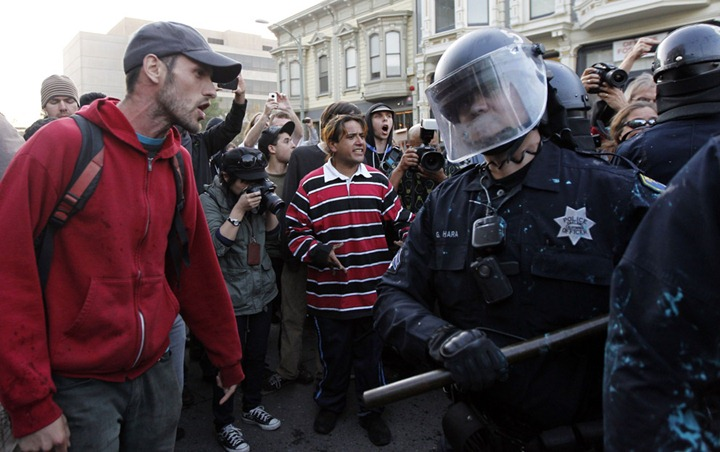 USA-WALLSTREET/OAKLAND-PROTESTS