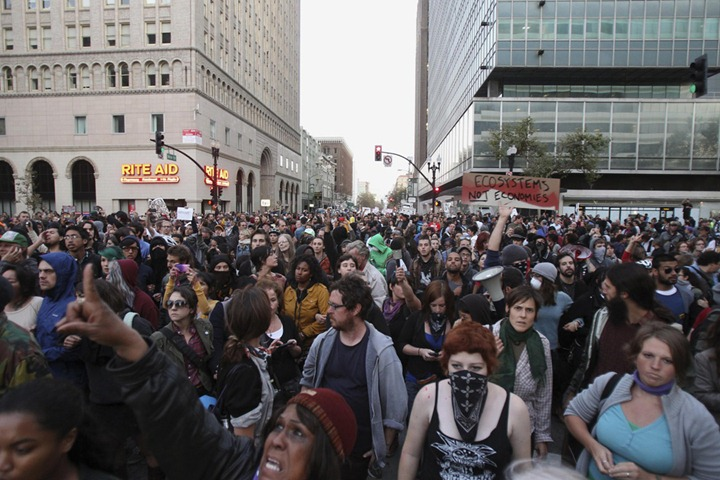 USA-WALLSTREET/PROTESTS-OAKLAND/