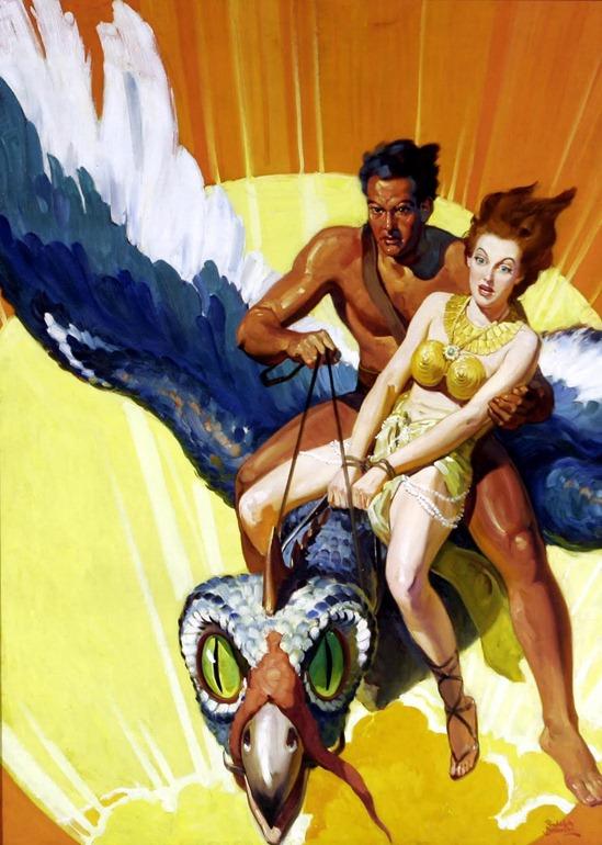 RUDOLPH BELARSKI (American 1900-1983) Original Pulp Magazine Cover Illustration Synthetic Men of Mars Argosy