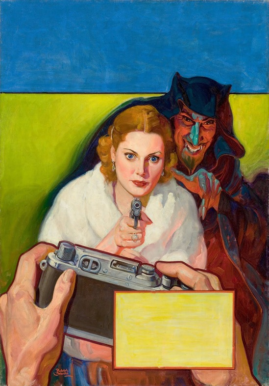 RUDOLPH BELARSKI (American, 1900-1983). Detective Fiction Weekly pulp cover, April 8, 1939