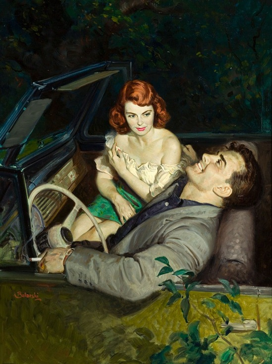 RUDOLPH BELARSKI (American, 1900-1983). Passion is a Woman, paperback digest cover, 1952