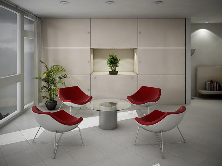 white-red-seating